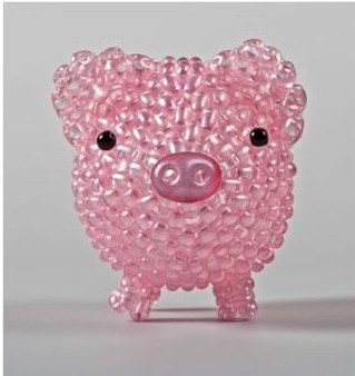 Free Download Pattern - Pig made from twin beads