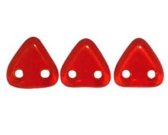 Preciosa Triangle 2 Hole Bead - 6mm - Siam Ruby (9gm Bag)