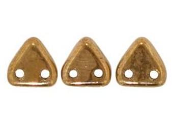 Preciosa Triangle 2 Hole Bead - 6mm - Bronze (9gm Bag)