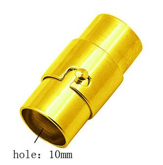 Locking Magnetic Clasp Gold 19mm x 12mm (Inner Diameter 10mm) - 2pk