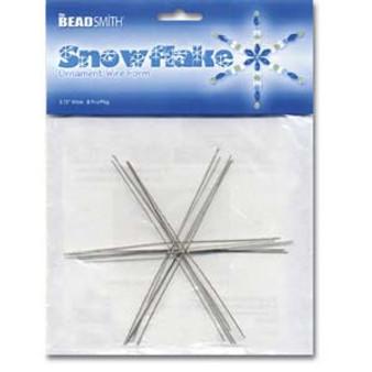 "Snowflake Ornament Wire Form 4.5"" Wide 7 Piece Pkg"