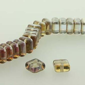 Chexx 2 Hole Bead, 6mm Sapperit Celsian, 1 Strand (50 Beads) (CHX06-30010-22501)