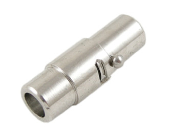 4 x Locking Magnetic Clasps - Platinum 5mm*15mm with glue in ends 4mm ID