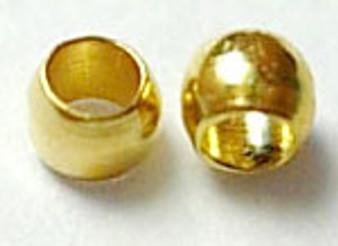 5 gram bag of Round Metal Crimps 2mm Gold (approx 500 crimps)