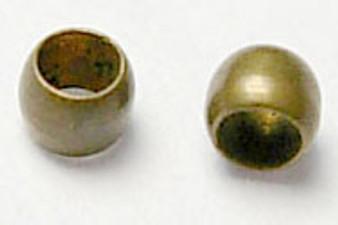 5 gram bag of Round Metal Crimps 2mm Ant Bronze (approx 500 crimps)