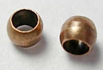 5 gram bag of Round Metal Crimps 2mm Ant Copper (approx 500 crimps)