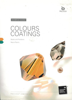 Preciosa Bead Colour, Coating and Effects 4mm (2 page Booklet) Sample Card