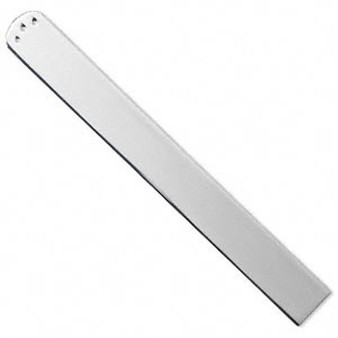 Bookmark, plated steel, 5-1/8 x 9/16 inch with (3) 1mm holes, 1mm thick. Silver