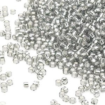 15-1 - 15/0 - Miyuki - Transparent Silver-Lined Clear - 8.2gms Vial Glass Round Seed Beads