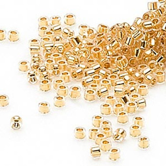 DB0033 - 11/0 - Miyuki Delica - 24kt Lined Gold - 4gms - Cylinder Seed Beads