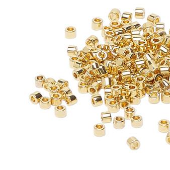DB0034 - 11/0 - Miyuki Delica - 24kt Light Gold - 4gms - Cylinder Seed Beads