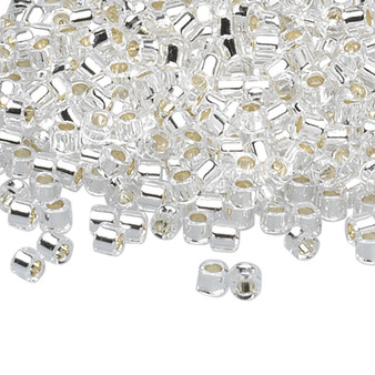 DB0041 - 11/0 - Miyuki Delica - Silver Lined Crystal - 7.5gms - Cylinder Seed Beads