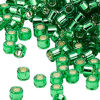 DB0046 - 11/0 - Miyuki Delica - Silver Lined Light Green - 7.5gms - Cylinder Seed Beads
