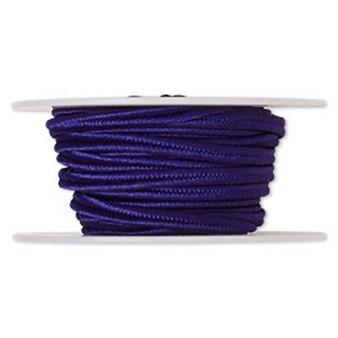 Cord, soutache, polyester, 3.5mm wide. Sold per 6-yard spool. Dark Purple