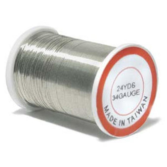 Bead Wire, 34 guage Silver (Stainless) 24yd Reel