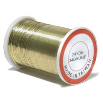 Bead Wire, 34 guage Gold (Stainless) 24yd Reel