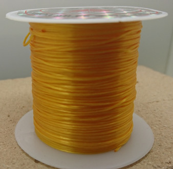 10 metre spool of Elastic Fibre Wire - 0.8mm thick Orange