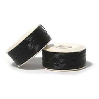 Thread, Nymo®, nylon. 1 x Bobbin Size B - 72yds Black