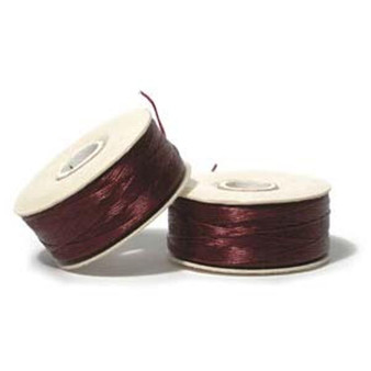 Thread, Nymo®, nylon. 1 x Bobbin Size B - 72yds Burgundy