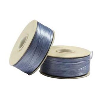 Thread, Nymo®, nylon. 1 x Bobbin Size B - 72yds Cathy Blue