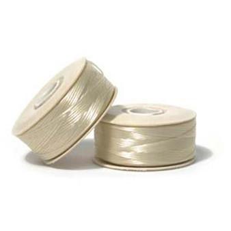 Thread, Nymo®, nylon. 1 x Bobbin Size B - 72yds Cream