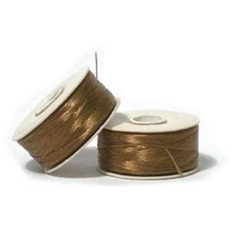 Thread, Nymo®, nylon. 1 x Bobbin Size B - 72yds Gold
