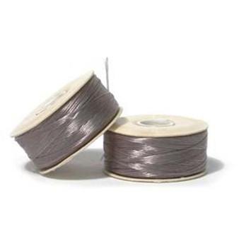 Thread, Nymo®, nylon. 1 x Bobbin Size B - 72yds Grey