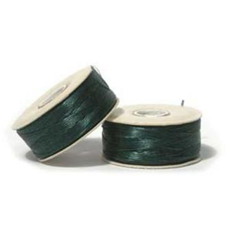 Thread, Nymo®, nylon. 1 x Bobbin Size B - 72yds Evergreen