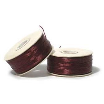 Thread, Nymo®, nylon. 1 x Bobbin Size D - 64yds Burgundy