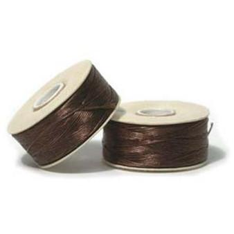 Thread, Nymo®, nylon. 1 x Bobbin Size D - 64yds Brown