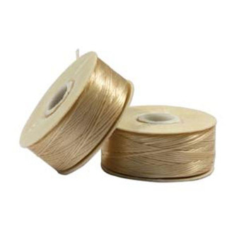 Thread, Nymo®, nylon. 1 x Bobbin Size D - 64yds Champagne