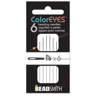 ColorEYES™ - The Beadsmith Beading Needle (6pk) Size 10 Black