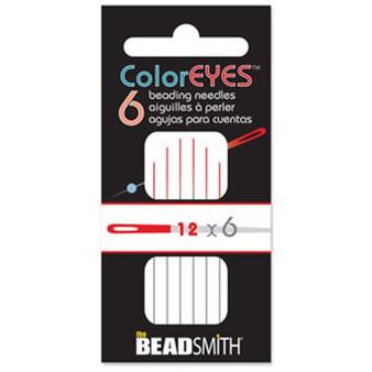 ColorEYES™ - The Beadsmith Beading Needle (6pk) Size 12 Red