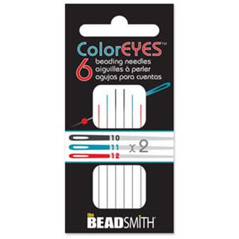 ColorEYES™ - The Beadsmith Beading Needle (6pk) Size 10/11/12 Mix