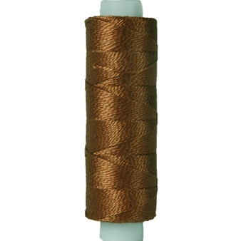 10gm Spool Pearl Crochet Cotton - Size 8 Med Brown