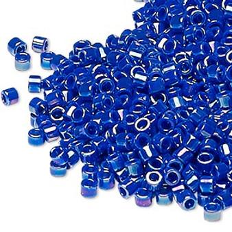 DB0165 - 11/0 - Miyuki Delica - Opaque Royal Blue AB - 7.5gms - Cylinder Seed Beads