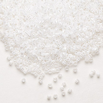 DB0201 - 11/0 - Miyuki Delica - Opaque Luster Pearl - 7.5gms - Cylinder Seed Beads