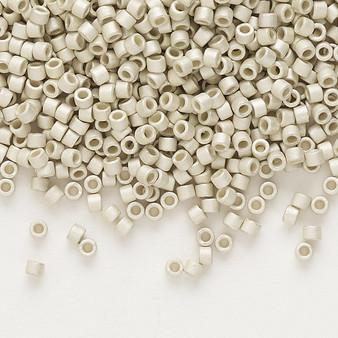 DB0335 - 11/0 - Miyuki Delica - opaque matte galvanized silver - 7.5gms - Cylinder Seed Beads