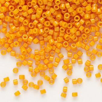 DB2104 - 11/0 - Miyuki Delica - Duracoat® opaque mango - 7.5gms - Cylinder Seed Beads