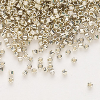 DB1831 - 11/0 - Miyuki Delica - Duracoat® opaque galvanized silver - 7.5gms - Cylinder Seed Beads