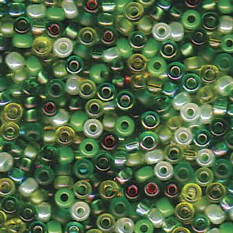 Miyuki Seed Beads - Round - SIZE #11 - 20gms - Colour Mix 03 Evergreen