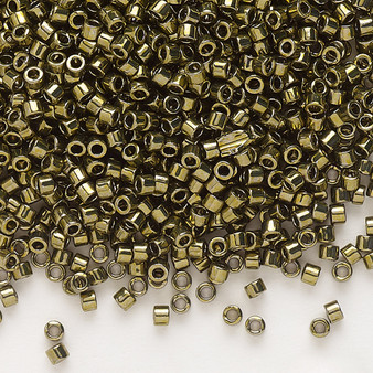 DB0456 - 11/0 - Miyuki Delica - Opaque Nickel-Finished Olive - 7.5gms - Cylinder Seed Beads
