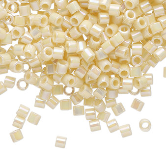 DBL-0157 - 8/0 - Miyuki - Opaque Cream - 7.5gms (approx 220 Beads) - Glass Delica Beads - Cylinder