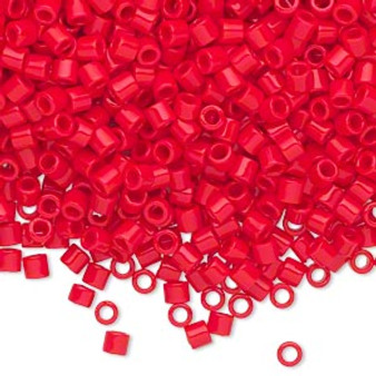 DBL-0723 - 8/0 - Miyuki - Opaque Red - 7.5gms (approx 220 Beads) - Glass Delica Beads - Cylinder