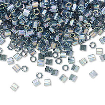 DBLC-0111 - 8/0 - Miyuki - Transparent Grey Luster - 7.5gms (approx 220 Beads) - Glass Delica Beads - Cylinder Hex