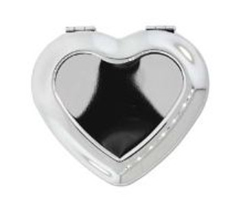 Crystal Clay Finding - Compact Mirror Heart 46*34mm