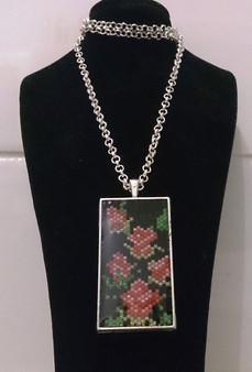 Peyote Roses Panel Resin Pendant Kit