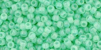 """TOHO Round Seed Beads 11/0 Tube 5.5"""" : TR-11-1144_b Milky Kiwi"""