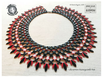 Free Download Pattern - Netted Collar by Maria Rypan
