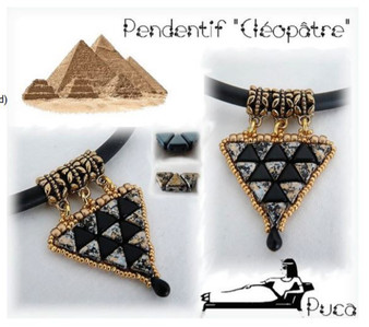 Free Download Pattern - Cleopatra Pendant  By Annick Puca
